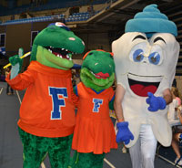 Mighty Molar with Albert & Alberta at the UF Relay for Life