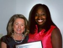 Dean Dolan and award winner Dr. Monet Ducksworth at the 2011 Senior Banquet
