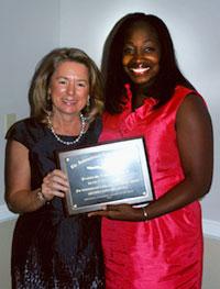 Dean Dolan and award winner Dr. Monet Ducksworth at the 2011 Senior Banquet