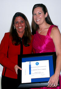 Dr. Pileggi and award winner Dr. Brittney Craig at the 2011 Senior Banquet