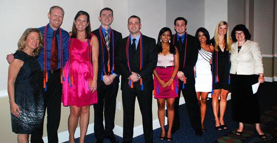 Award winners at the Senior Banquet