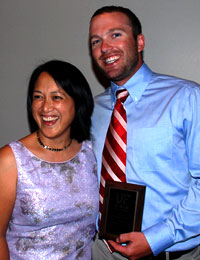 Dr. Weinstein and award winner Dr. Joshua Estes at the 2011 Senior Banquet