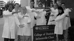 Residents at the College of Dentistry Jacksonville clinic
