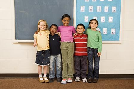 row of kids in classroom web