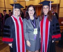 From left faculty members Pam Sandow, Nini Sposetti and Roberta Pileggi.