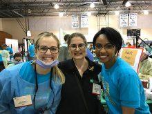 from left: Eva Dupay, Dr. Isabel Garcia, Marissa Spruell