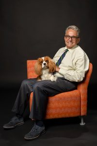 Dr. Marc Gale and his dog, Oliver