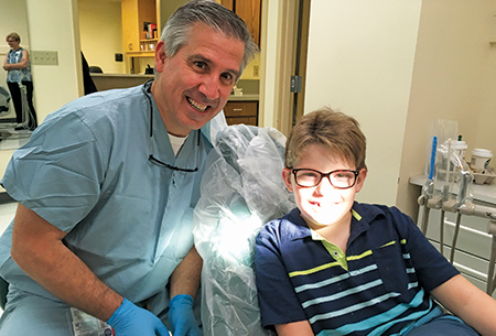 Nathan Pisco, patient, with Dr. Calogero Dolce