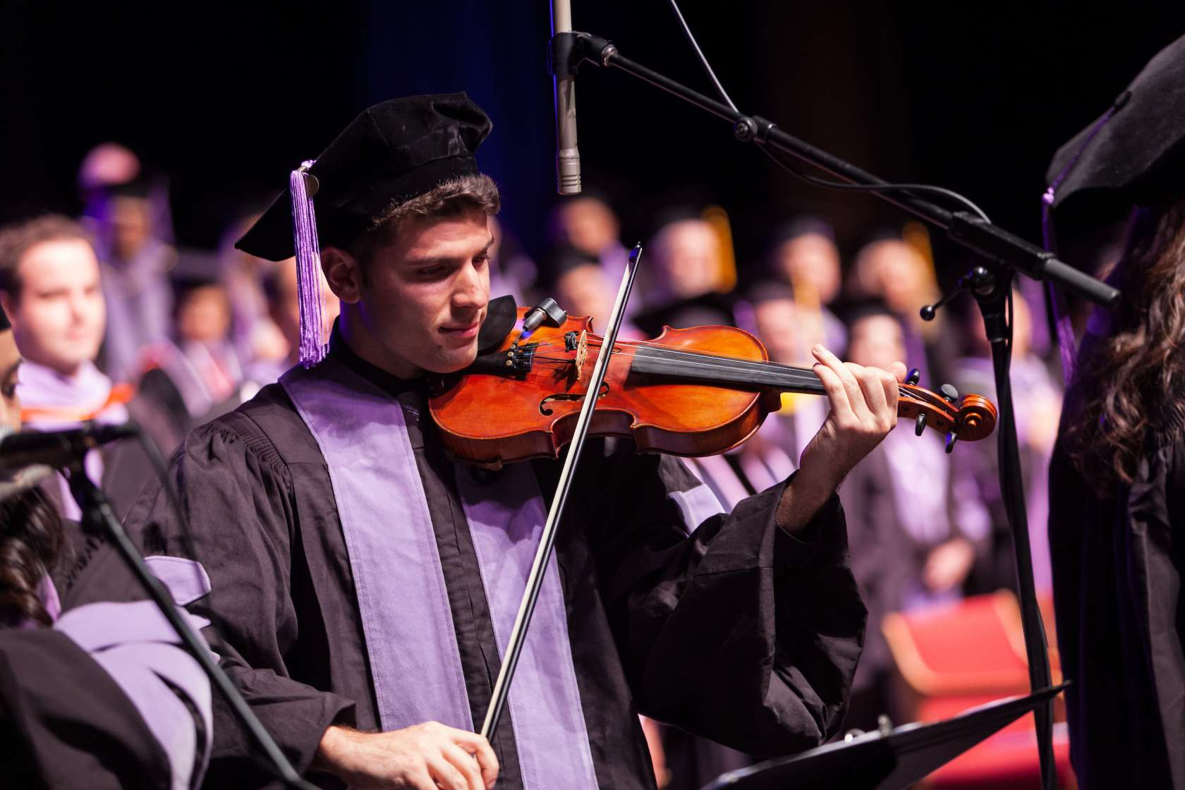 2019 commencement violin player
