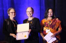 Carol Stewart receives award