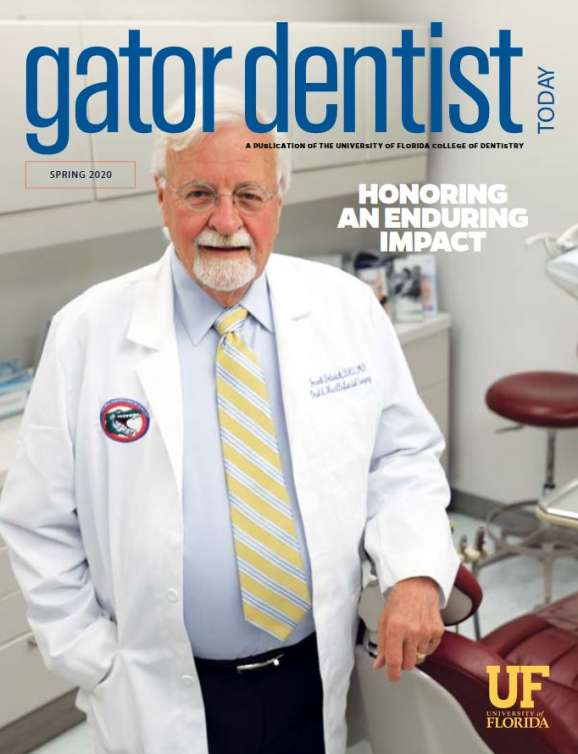 Gator Dentist Today Spring 2020 Cover featuring Dr. Dolwick
