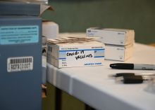 Photo of COVID Vaccines on table